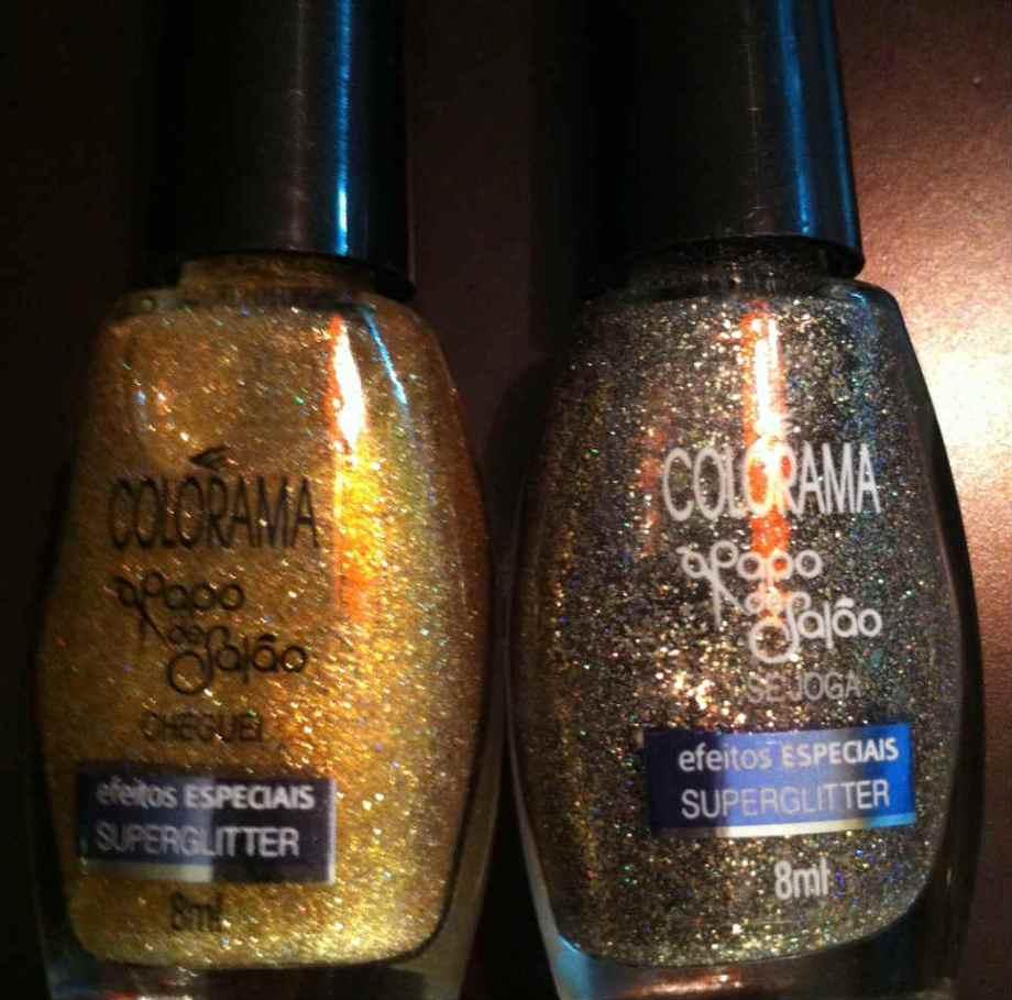 E estes dois efeitos de glitter, bem festivos...