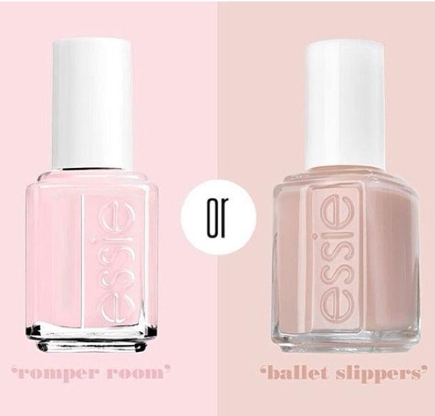 Rosinha ou nude? EStes dois esmaltes de Essie são lindos! Escolha de Sofia...
